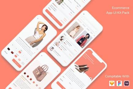 Ecommerce App UI Kit Pack