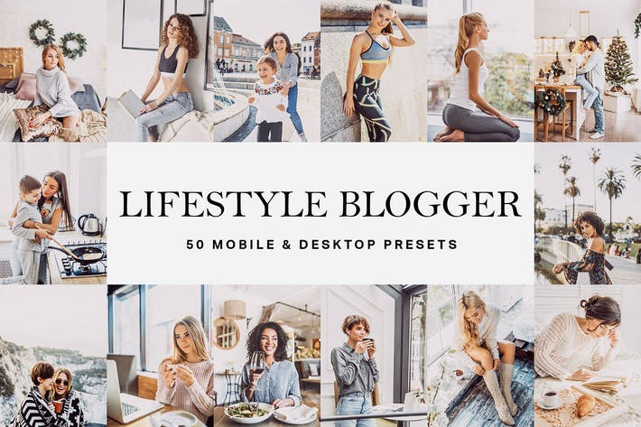Thumbnail for 50 presets y LUTs de Lightroom de Lifestyle Blogger