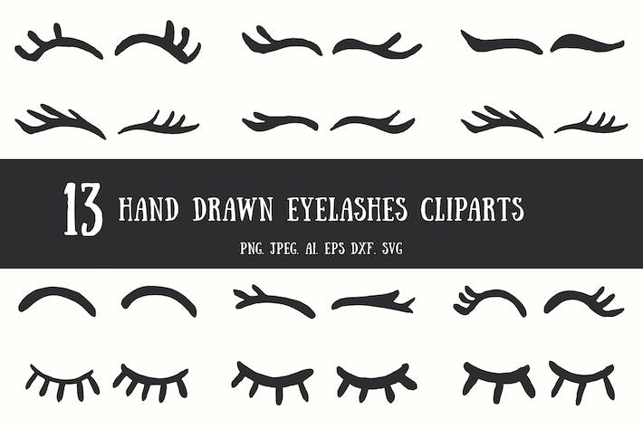 Thumbnail for 10+ Handdrawn Eyelashes Cliparts