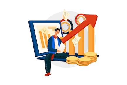 Generating Increased Revenue Vector Illustration