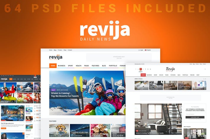 Thumbnail for Revija - Blog/Magazine PSD Template