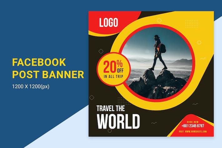 Thumbnail for Travel Agency Offer Facebook Post Banner
