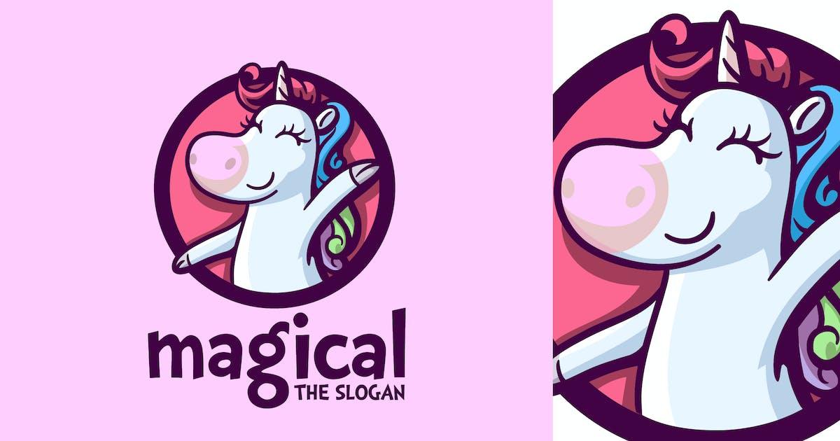 Download Cartoon Magical Unicorn Character Mascot Logo by Suhandi