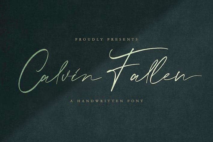 Thumbnail for Calvin Fallen - Fuente de firma manuscrita