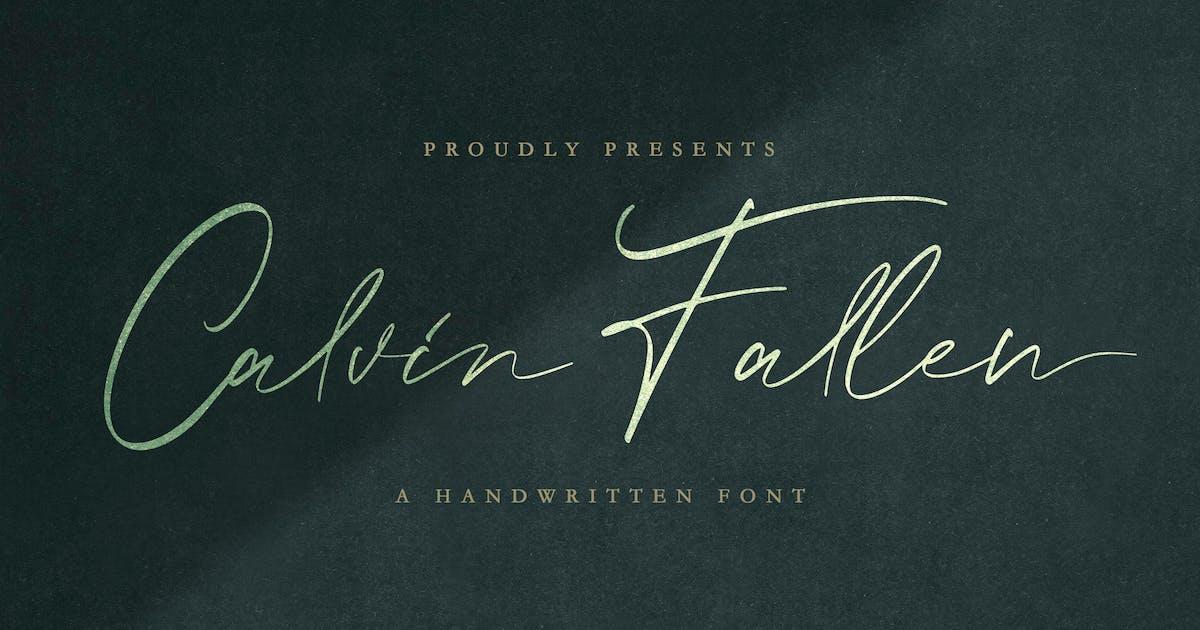 Download Calvin Fallen - Handwritten Signature Font by StringLabs