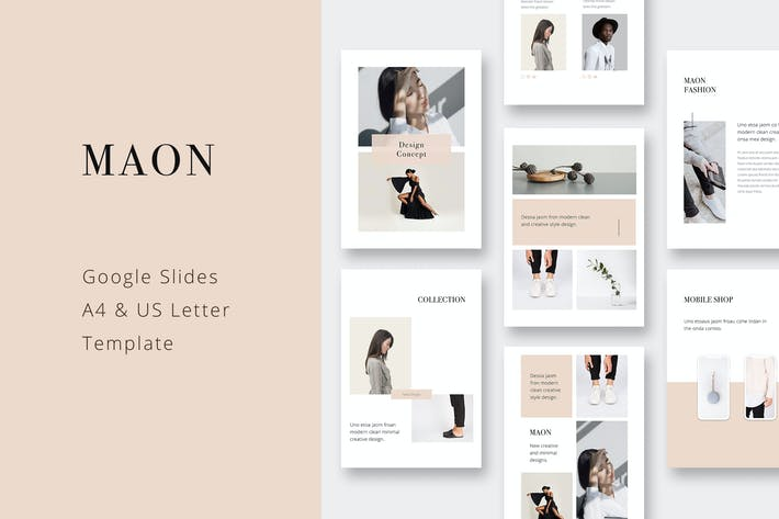 Thumbnail for MAON - Vertical Google Slide A4+US Letter Template