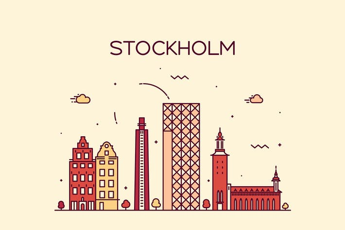 Thumbnail for Stockholm skyline, Sweden