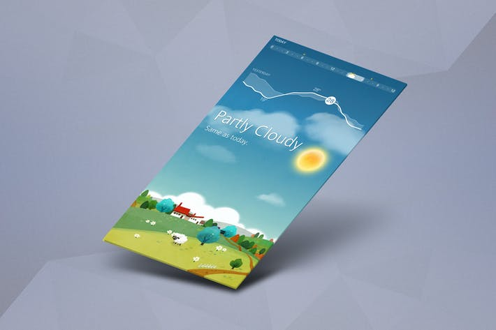 Thumbnail for App Mock up - Isometric Scenes