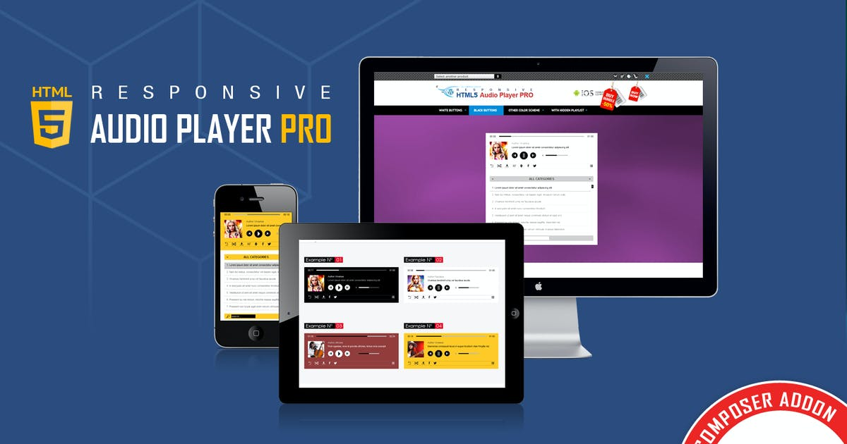 Download Visual Composer Addon - HTML5 Audio Player PRO by LambertGroup