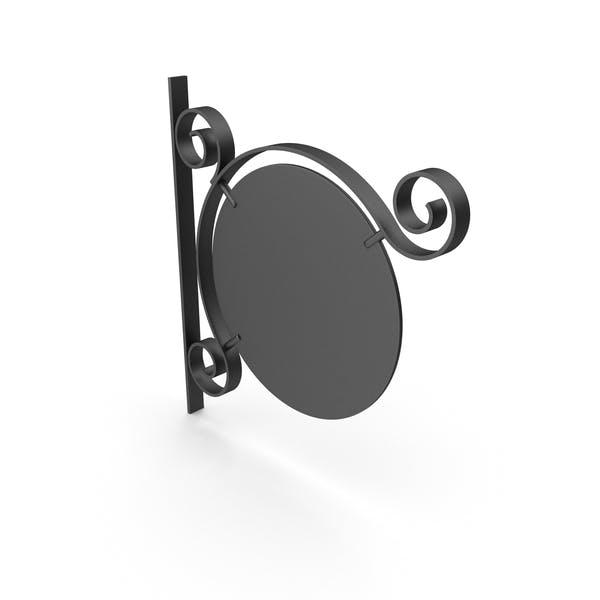 Черный металл и черная рамка вывеска