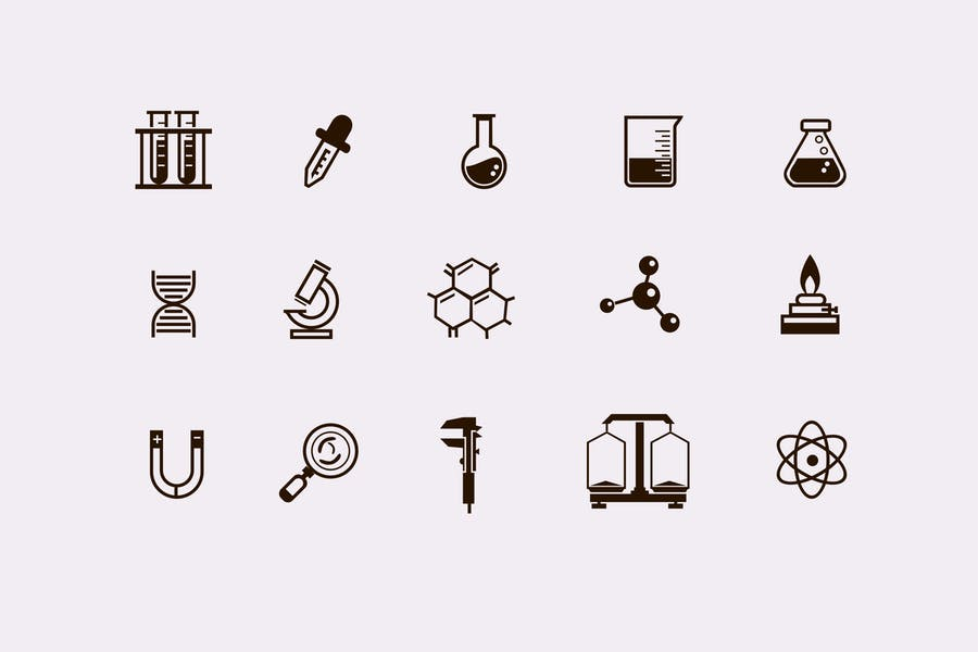 15 Laboratory and Science Icons