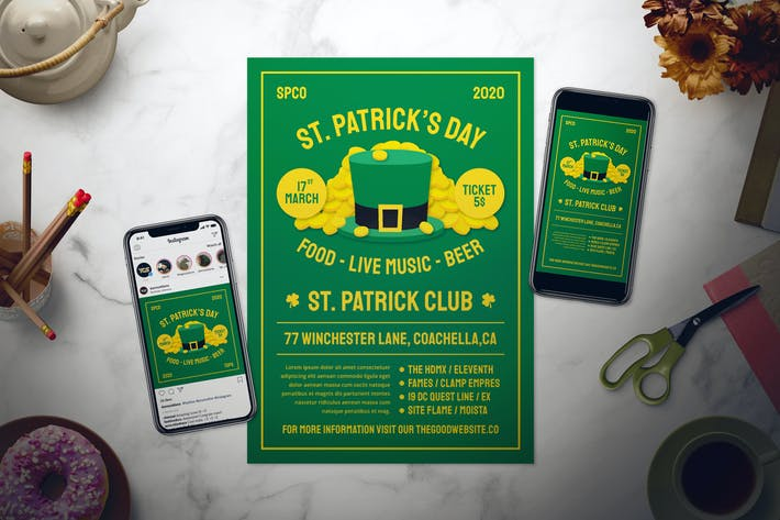 Cover Image For Saint Patrick's Day Flyer Set