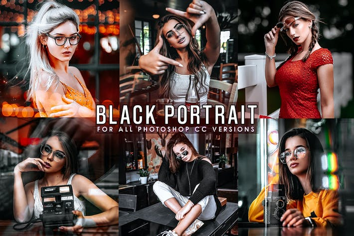 Thumbnail for Black Tones Portrait Photoshop Actions