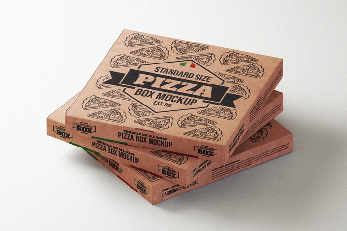 Thumbnail for Pizza takeaway box mock-up template
