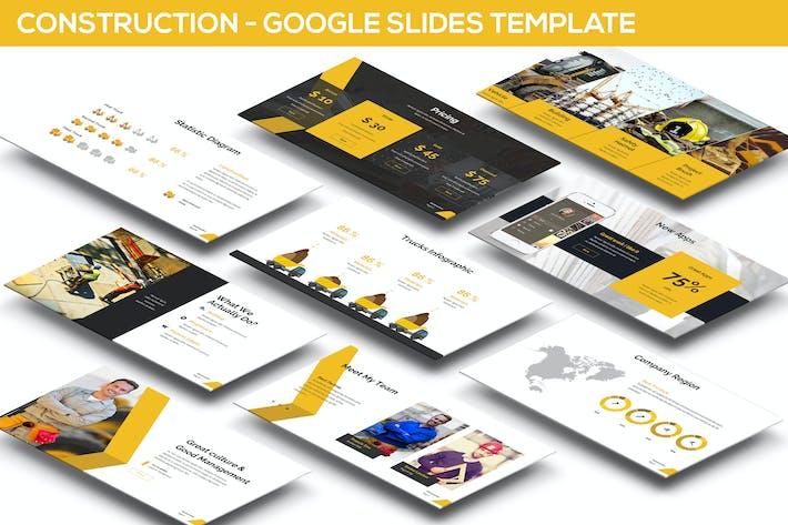 Cover Image For Construction Google Slides Presentation