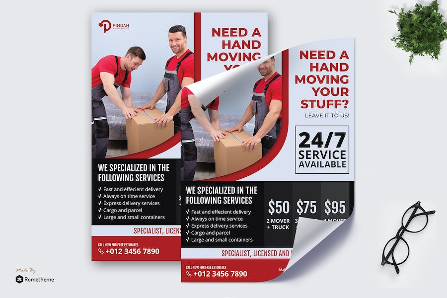 Pindah Moving Service - Business Poster RB