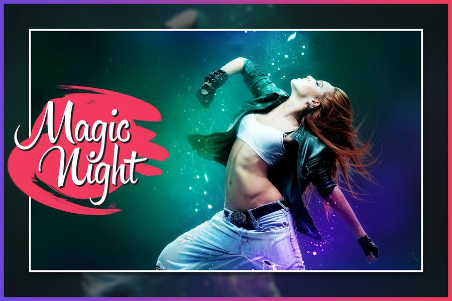 Magic Night CS3+ Photoshop Action