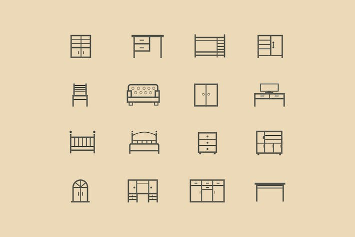 Thumbnail for 16 Furniture Icons