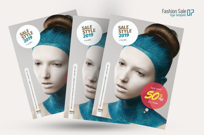 Thumbnail for Beauty Sale Flyer Template 07