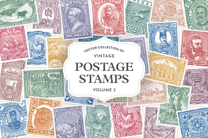 Thumbnail for Vintage Postage Stamps Vol. 2