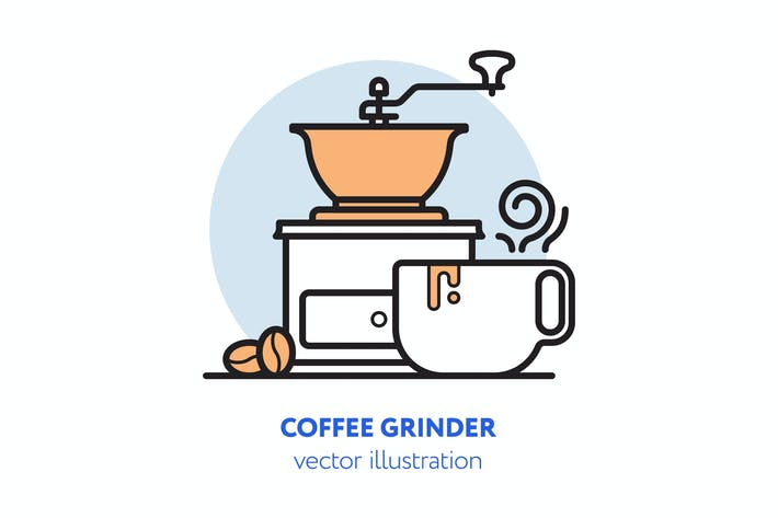 Thumbnail for Coffee grinder vector illustration