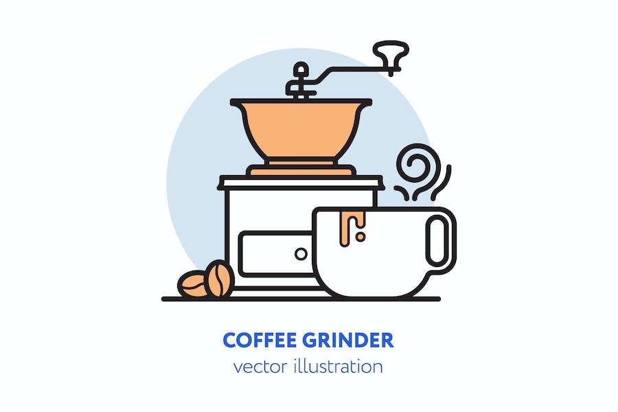 Coffee grinder vector illustration