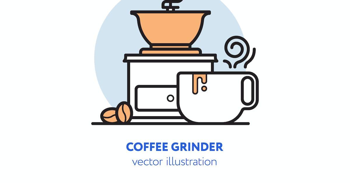 Coffee grinder vector illustration by mir_design