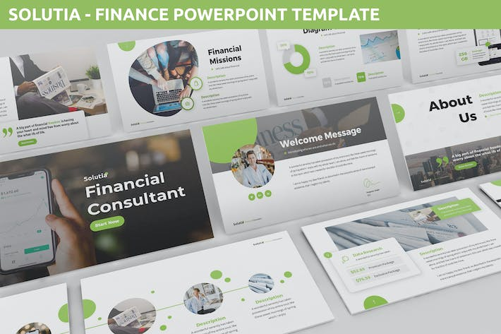 Cover Image For Solutia - Finance Powerpoint Template
