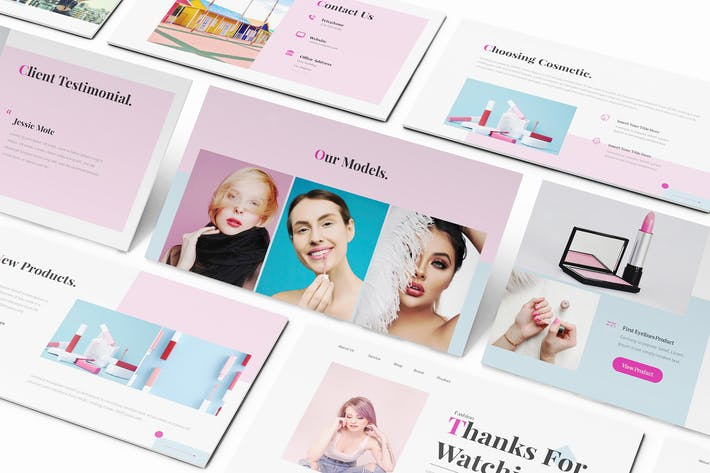 Cosmetic Keynote Template