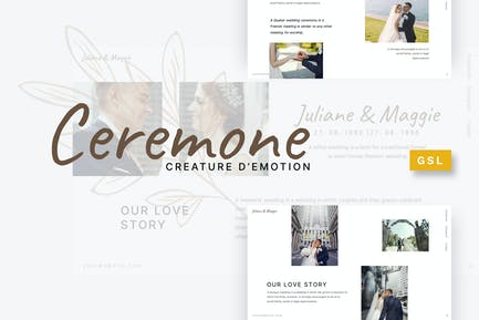 Ceremone - Wedding Google Slides Template