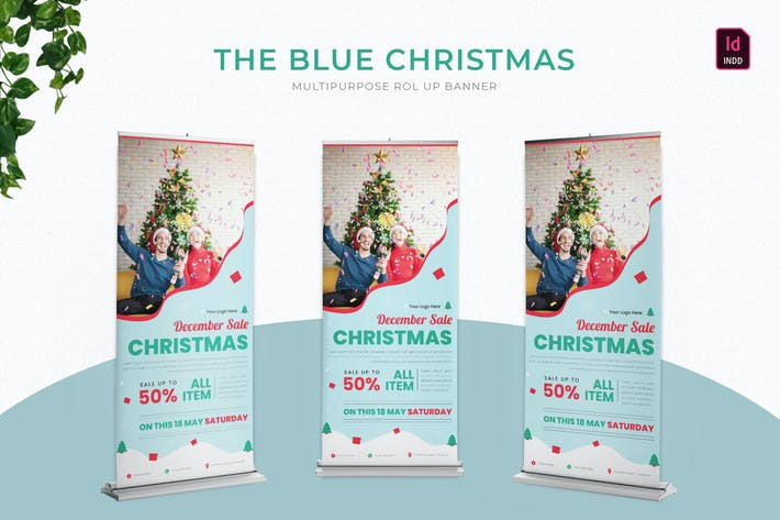 Thumbnail for Blue Christmas | Roll Up Banner