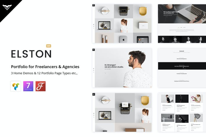 Thumbnail for Elston - Portfolio for Freelancers & Agencies