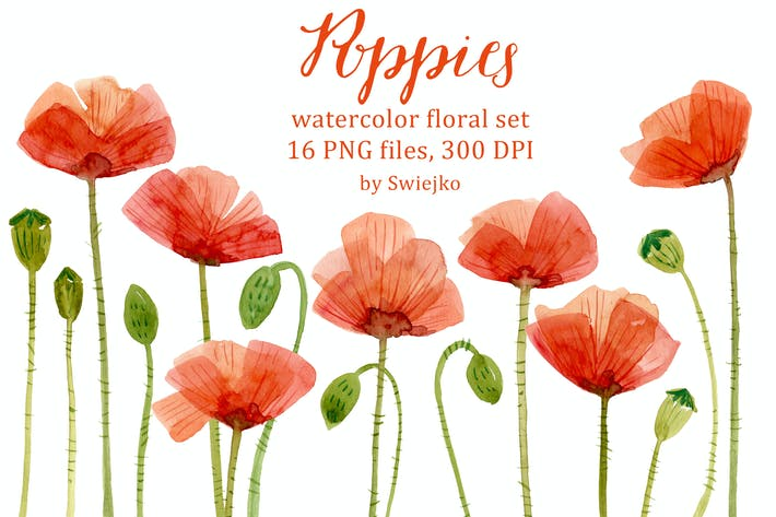 Thumbnail for Watercolor Poppies