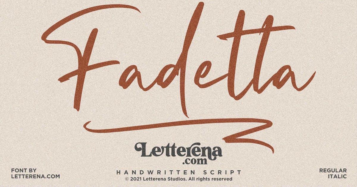 Download Fadetta Signature Script LS by GranzCreative