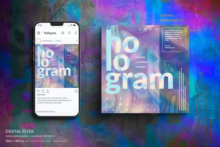 Thumbnail for Holorgram - Online Music Event Digital Flyer