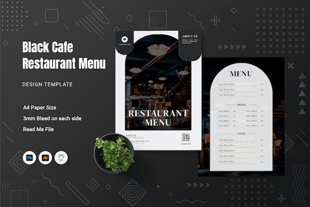 Black Cafe Restaurant Menu