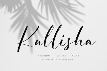 Kallisha - Police manuscrite
