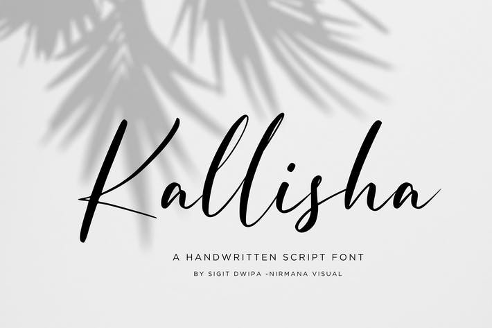 Kallisha - Handwritten Font