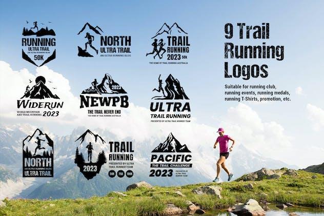 9 Trail Running Logos