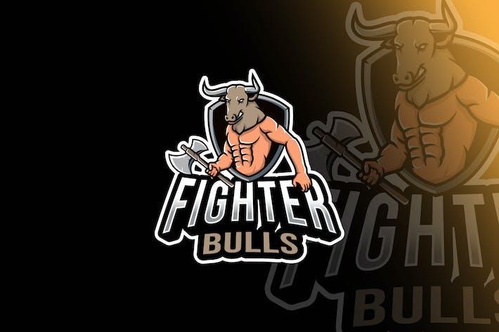 Thumbnail for Plantillas de logotipos de Fighter Bulls Esport