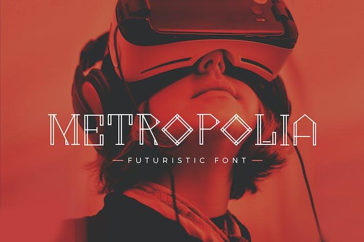 Thumbnail for Metropolia - Futuristic font