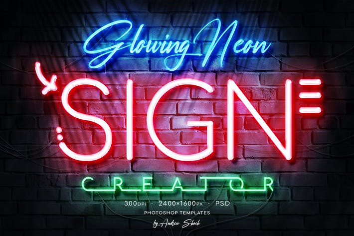 Thumbnail for Glowing Neon Sign