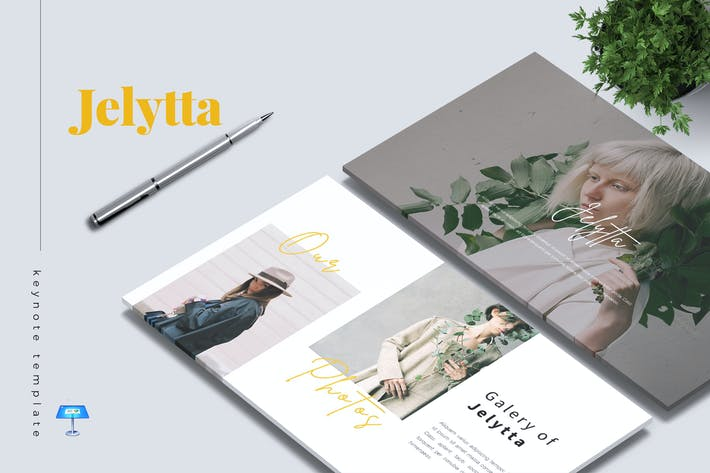 Thumbnail for JELYTTA - Шаблон креативной Keynote