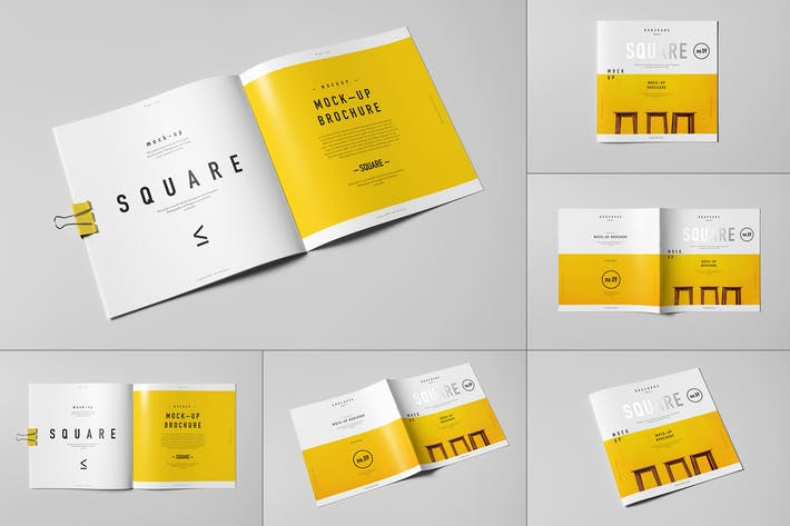 Thumbnail for Square Brochure Mock-up