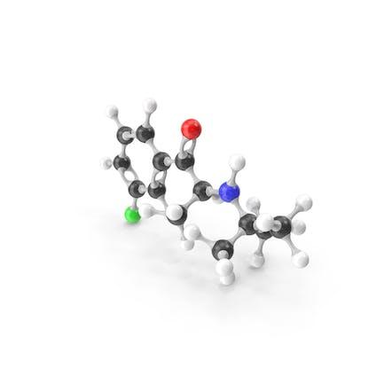 Bupropion Molecular Model