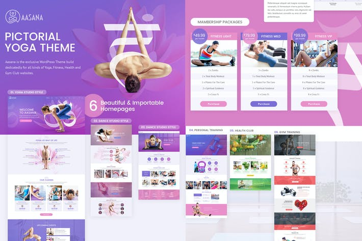 Thumbnail for Aasana Yoga Fitness Gym Dance Health PSD