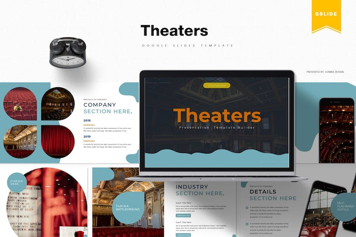 Thumbnail for Theaters | Google Slides Template