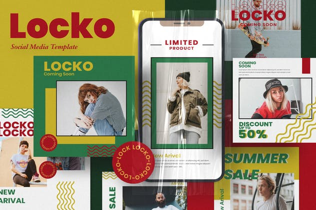Locko Social Media Template - product preview 7