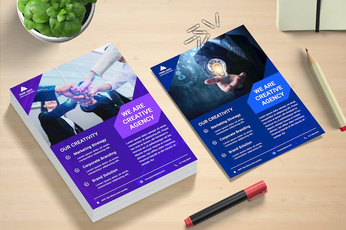 Thumbnail for Business Creative Flyer Template