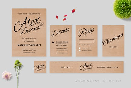 Wedding Invitation Set Vol 5